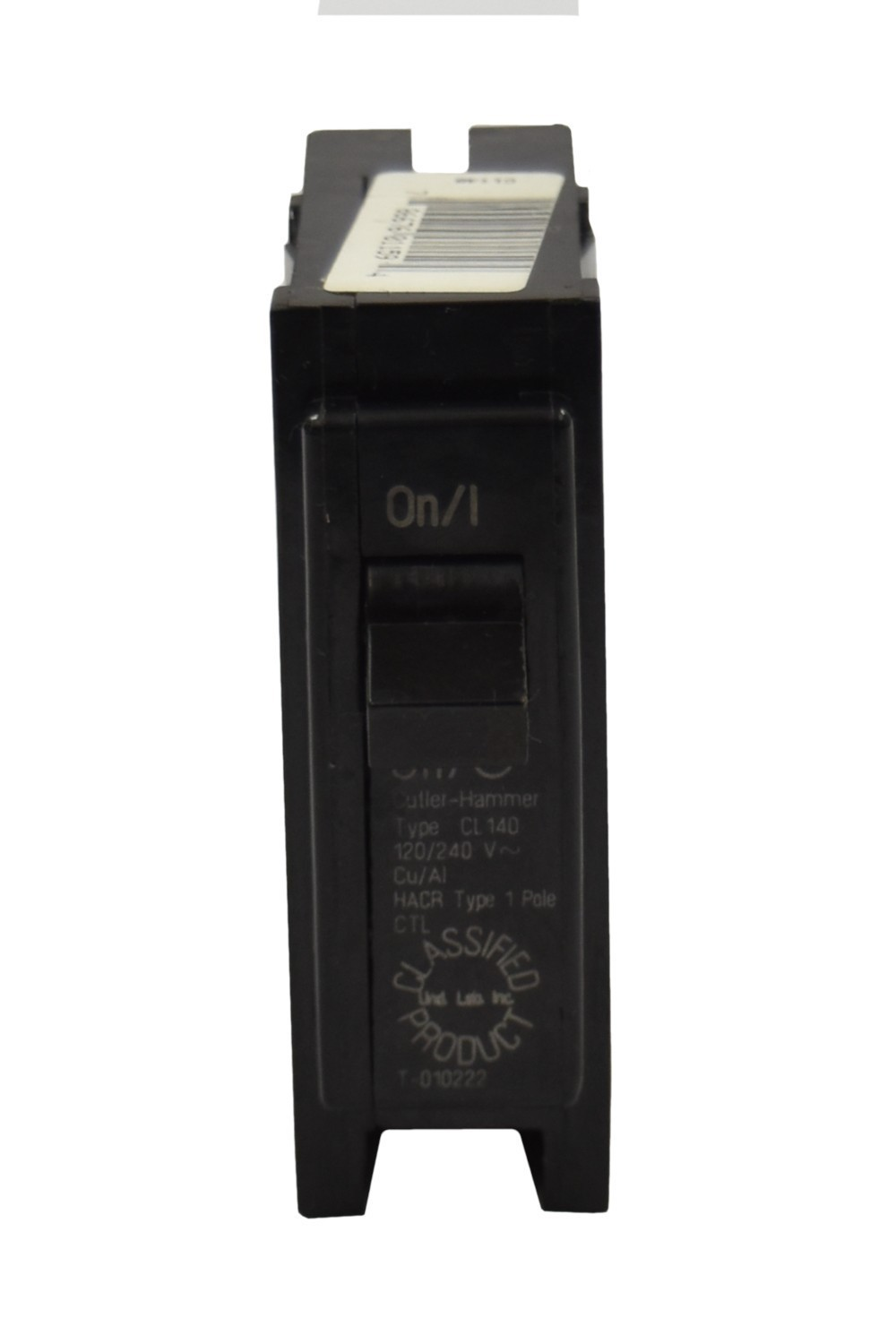 CUTLER HAMMER//WESTINGHOUSE CL120 U 20A 120//240V 1P0 10K Used UL Classified Replacement Breaker HOM120,MP120,THQ1120,Q120,MP120,TB120